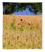 Wheat Field Fleece Blanket