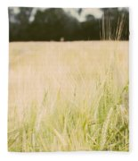 Wheat Field Closeup Fleece Blanket