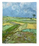 Wheat Fields After The Rain, The Plain Of Auvers Fleece Blanket