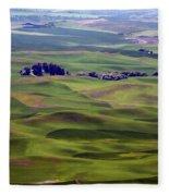 Wheat Fields Of The Palouse - Eastern Washington State Fleece Blanket