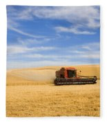 Wheat Harvest Fleece Blanket