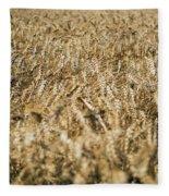 Wheat In The Wind Fleece Blanket