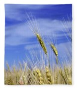 Wheat Trio Fleece Blanket