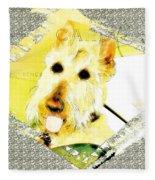 Wheaten Scottish Terrier - During Sickness And Health Fleece Blanket
