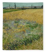 Wheatfield Arles, June 1888 Vincent Van Gogh 1853 - 1890 Fleece Blanket