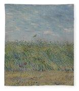 Wheatfield With Partridge Paris, June - July 1887 Vincent Van Gogh 1853 - 1890 Fleece Blanket