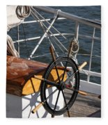 Sailingship Wheel Fleece Blanket