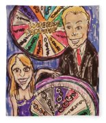 Wheel Of Fortune Pat Sajak And Vanna White Fleece Blanket