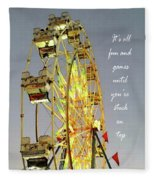Wheel Of Fortune With Phrase Fleece Blanket