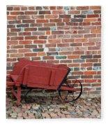Wheelbarrow Fleece Blanket