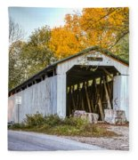 Wheeling Covered Bridge Fleece Blanket