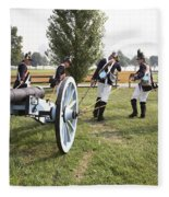 Wheeling The Cannon At Fort Mchenry In Baltimore Maryland Fleece Blanket