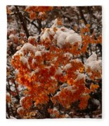 When Fall Meets Winter Fleece Blanket