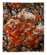 When Fall Meets Winter Fleece Blanket