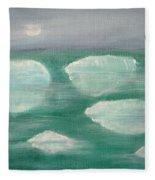 When Glaciers Melt Fleece Blanket