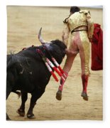 When The Bull Gores The Matador I Fleece Blanket
