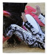 When The Bull Gores The Matador IIi Fleece Blanket