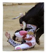 When The Bull Gores The Matador Iv Fleece Blanket