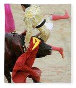 When The Bull Gores The Matador V Fleece Blanket