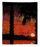 When The Day Ends Time Is Exhausted Fleece Blanket