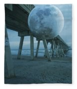 Waning Moon Fleece Blanket