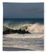 When The Ocean Speaks - Jersey Shore Fleece Blanket