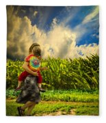 When The Sun Comes After Rain Fleece Blanket