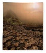 Sunset At Giant's Causeway Fleece Blanket