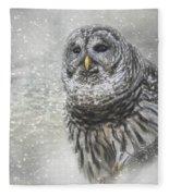 When Winter Calls Owl Art Fleece Blanket