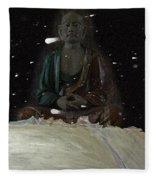When You Meet The Buddha Fleece Blanket