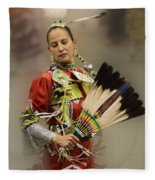 Pow Wow Where Are You Now Fleece Blanket