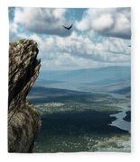 Where Eagles Soar Fleece Blanket