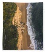 Where Land Meets The Sea Fleece Blanket