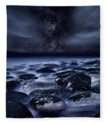 Where Silence Is Perpetual Fleece Blanket