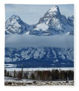Where The Buffalo Roam Fleece Blanket