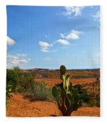 Where The Cactus Grow Fleece Blanket