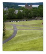 Where The Paths Cross Cornell University Ithaca New York Fleece Blanket