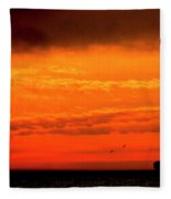 Where The Sky Meets The Sea Fleece Blanket
