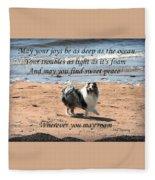 Wherever You May Roam Fleece Blanket