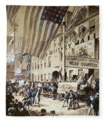 Whig Party Parade, 1840 Fleece Blanket