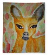 Whimsical Autumn Doe Fleece Blanket