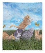 Whimsical Cats Fleece Blanket