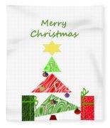 Whimsical Christmas Tree Fleece Blanket