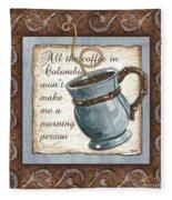 Whimsical Coffee 1 Fleece Blanket