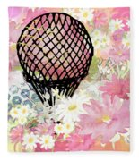 Whimsical Musing High In The Air Pink Fleece Blanket