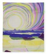 Whirling Sunrise - La Rocque Fleece Blanket