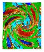 Whirlwind - Abstract Art Fleece Blanket