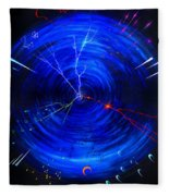 Whirlwind Of History. When Time Machine Is In Action Fleece Blanket