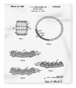Whiskey Barrel Patent 1968 Fleece Blanket