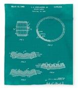 Whiskey Barrel Patent 1968 In Green Fleece Blanket
